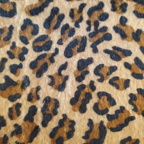 Leopard korthårig fuskpäls Andra sortering