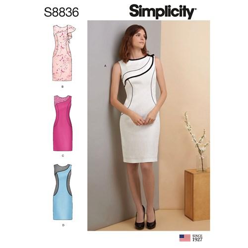 Simplicity 8836 H5 Dam Storlek 32-40 Klänning