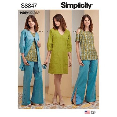 Simplicity 8847 H5 Dam Storlek 32-40 Flera plagg