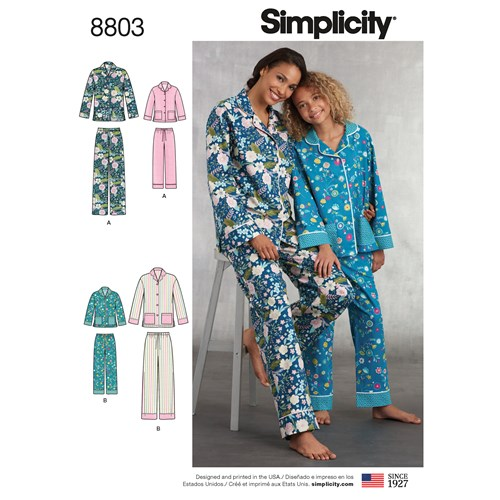 Simplicity 8803 A Barn / Dam Storlek S-L / XS-XL Flera plagg