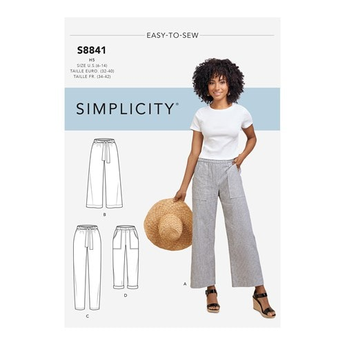 Simplicity 8841 H5 Dam storlek 32-40 Byxa