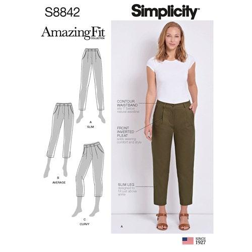 Simplicity 8842 H5 Dam storlek 32-40 Byxa