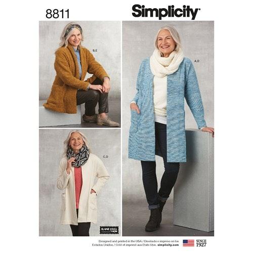 Simplicity 8811 A Dam Storlek XS-XL Överdel