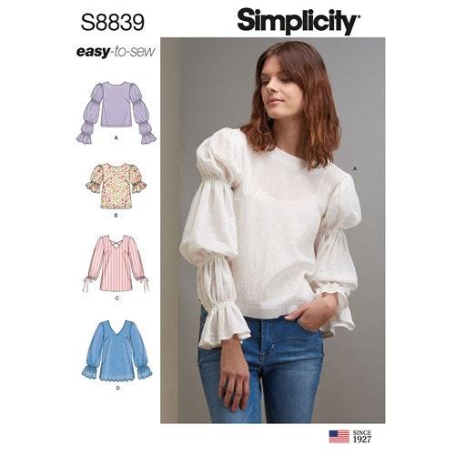 Simplicity 8839 H5 Dam Storlek 32-40 Överdel
