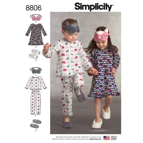 Simplicity 8806 A Barn Storlek 3-8 Flera plagg