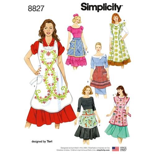 Simplicity 8827 A Dam Storlek S-L Förkläden