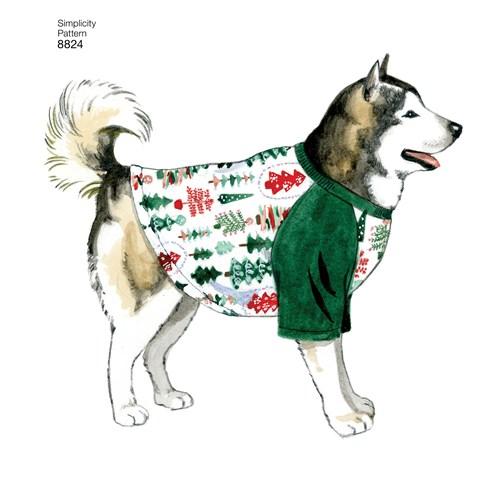 Simplicity 8824 A Övrigt Storlek S-L Hundkläder