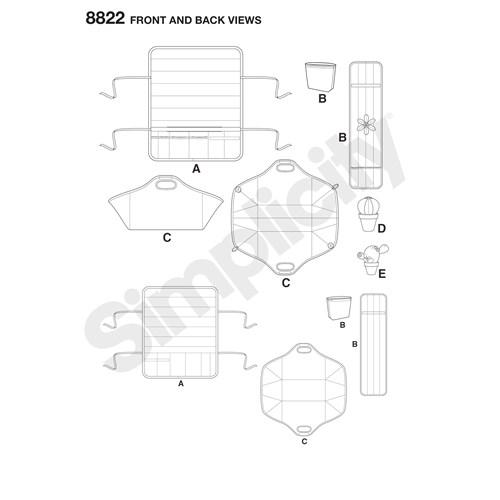 Simplicity 8822 OS Övrigt Syrumsaccessoarer