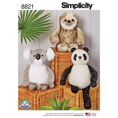 Simplicity 8821 OS Övrigt Gosedjur