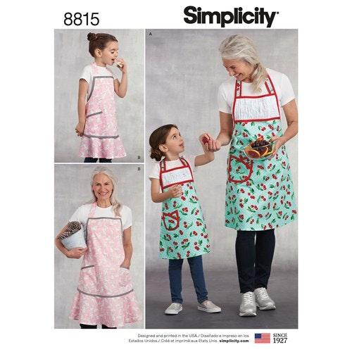 Simplicity 8815 A Barn / Dam Storlek S-L Förkläden