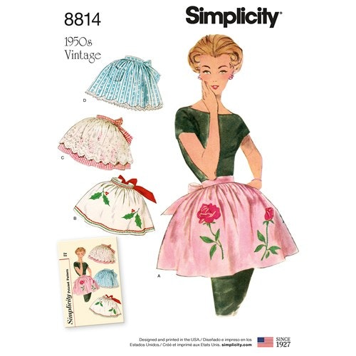 Simplicity 8814 OS Dam Storlek One Size Förkläden