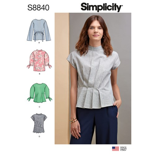 Simplicity 8840 H5 Dam Storlek 32-40 Blus