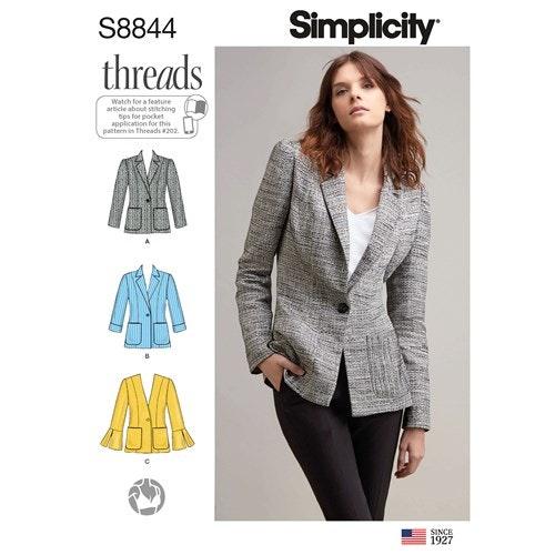 Simplicity 8844 H5 Dam Storlek 32-40 Kavaj