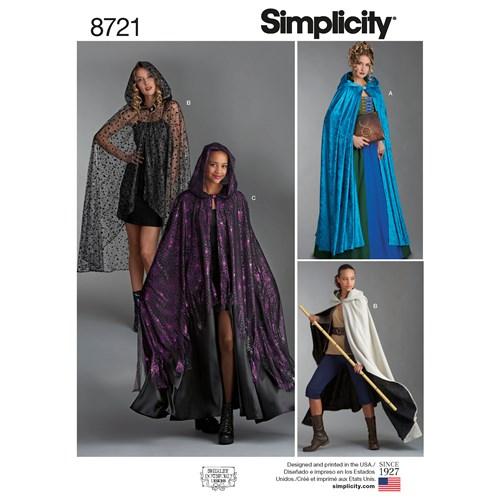 Simplicity 8721 OS Övrigt One Size Flera plagg