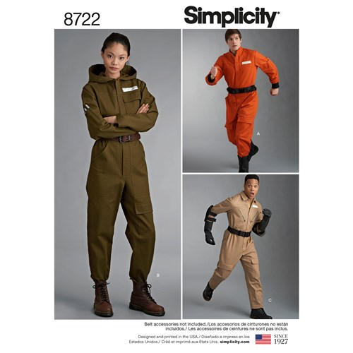 Simplicity 8722 A Övrigt Storlek XS-XL Flera plagg