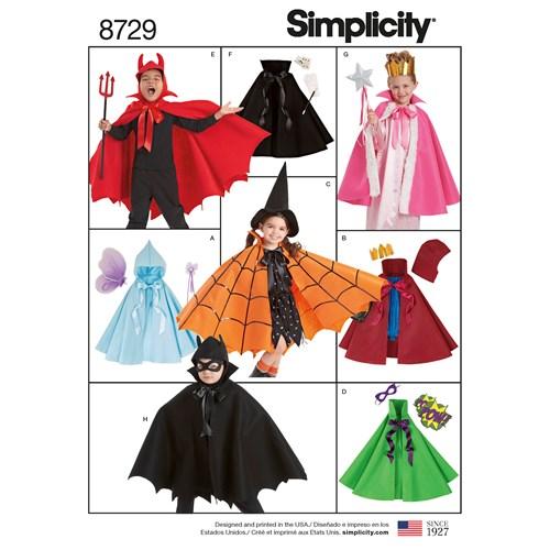 Simplicity 8729 A Övrigt Storlek S-L Flera plagg