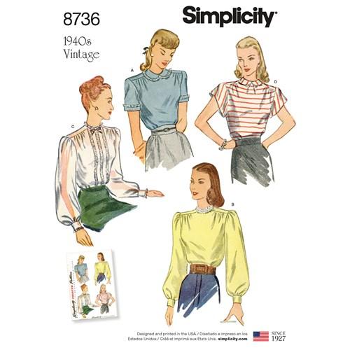 Simplicity 8736 U5 Dam Klänning Storlek 44-52
