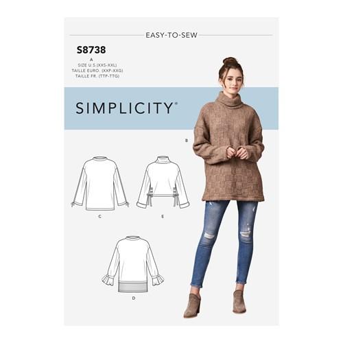 Simplicity 8738 A Dam Överdel  Storlek 30-52