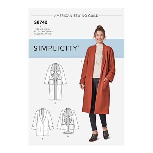 Simplicity 8742 A Dam Överdel  Storlek 32-50