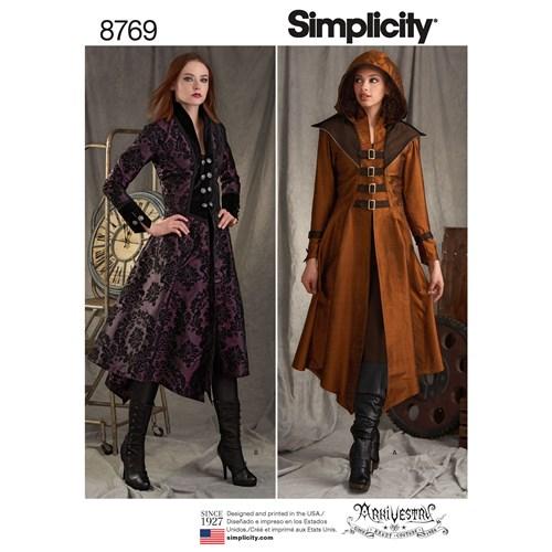 Simplicity 8769 R5 Medeltidskläder Storlek 40-48