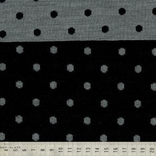 Yllejersey - svart / grå prickar MULESING FRI