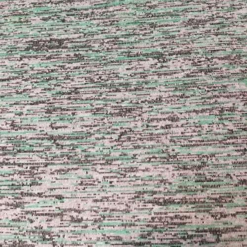 Trikå - Emanuel slätstickad melerad gröna toner