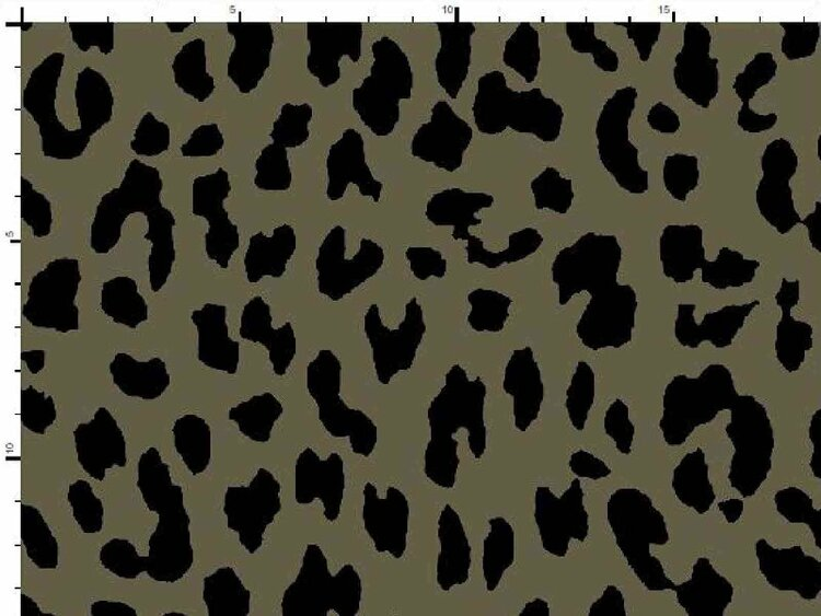 Bomullstrikå - Leopard Militärgrön