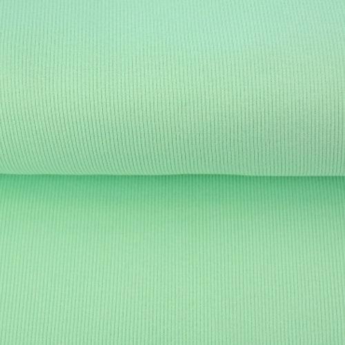 Olle - Ribbad Bomullstrikå mörk mint 125 cm bredd