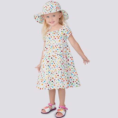 Simplicity S9126 Klänning och hatt till barn.