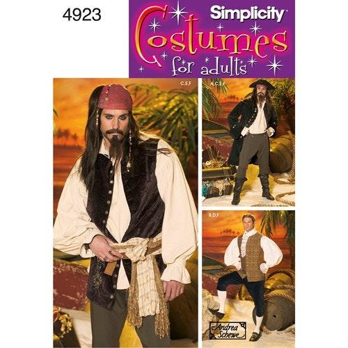 Simplicity 4923 BB  Herr Storlek L,XL  Pirat Kostym