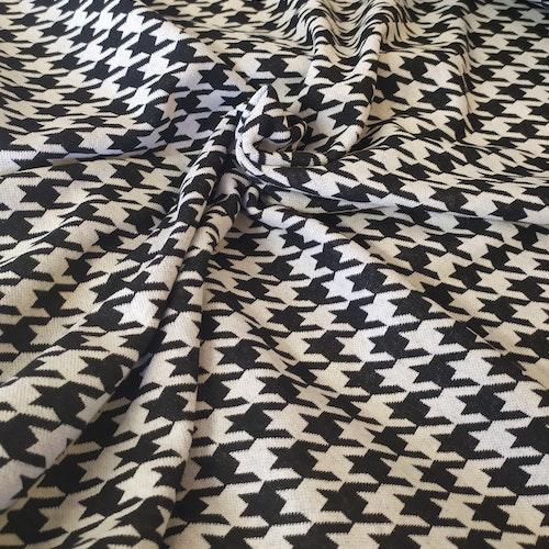 Courtelle - Återvunnen textil Jaquard Ljusgrå / svart hundtand