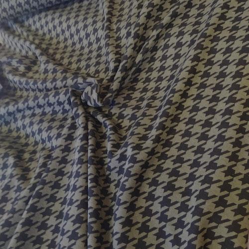 Courtelle - Återvunnen textil Jaquard Militär / svart hundtand