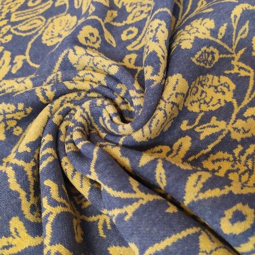 Courtelle - Återvunnen textil Jaquard Mönstrad gul / grå