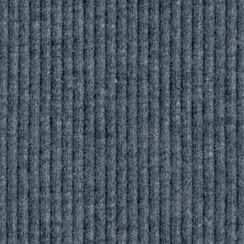 Olle - Ribbad Bomullstrikå Melerad blå 115 cm bredd RUNDVÄVD
