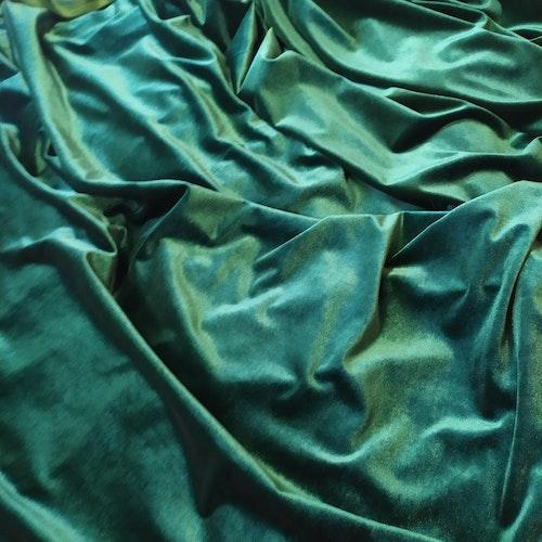 STEAM VELVET - sammet Velour Grangrön