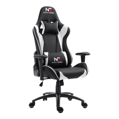 Gaming Racer Chair Svart/Vit - PU läder