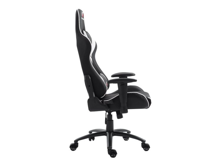 Gaming Racer Chair Svart/Vit - PU läder