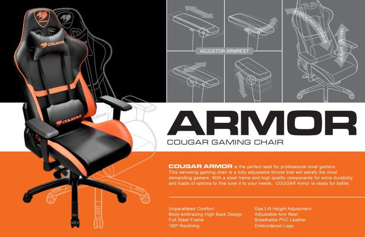 Cougar Chair Armor-Orange