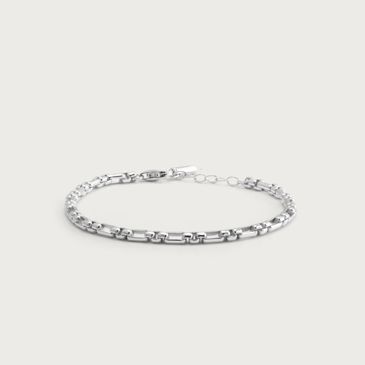 Chain armband silver