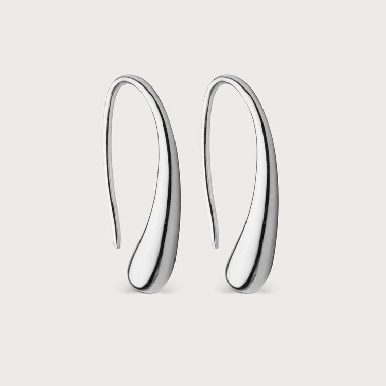 droplet örhängen silver