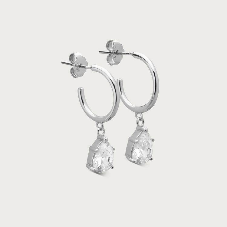 Glimmer örhängen silver