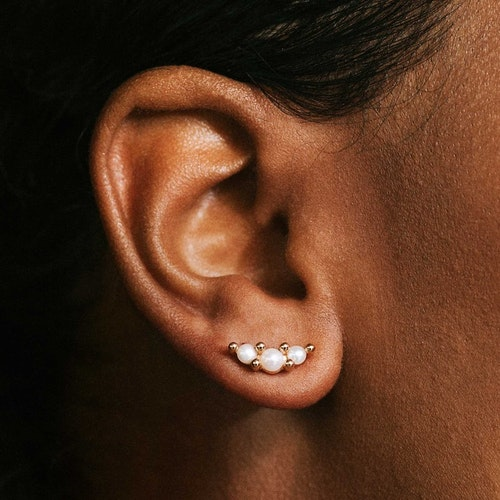 Pearly trio örhängen