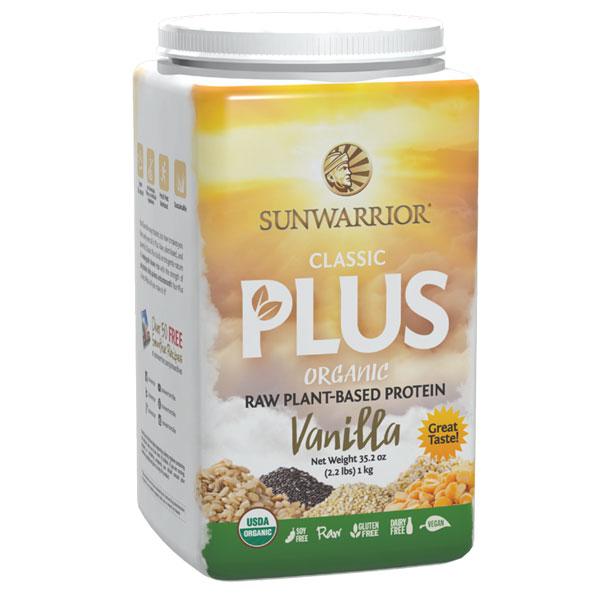 Sunwarrior Classic Plus Organic Vanilj Proteinpulver 750 gram