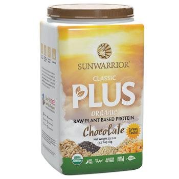 Sunwarrior Classic Plus Organic Chocolate Proteinpulver 750 gram