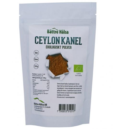 Ceylonkanel Ekologiskt 150 gram Bättre Hälsa