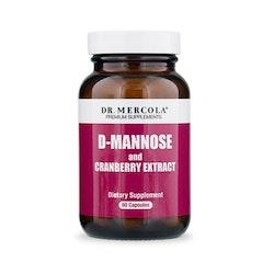 D-mannose and cranberry extract 60 kapslar
