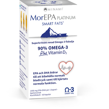 MorEPA Platinum Smart Fats Omega-3 60 kapslar