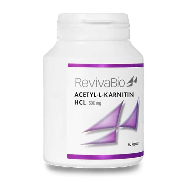 Acetyl-L-Karnitin HCL 500mg 60 kapslar RevivaBio