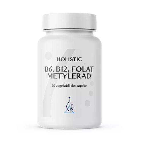 B6, B12, Folat Metylerad 60 kapslar Holistic