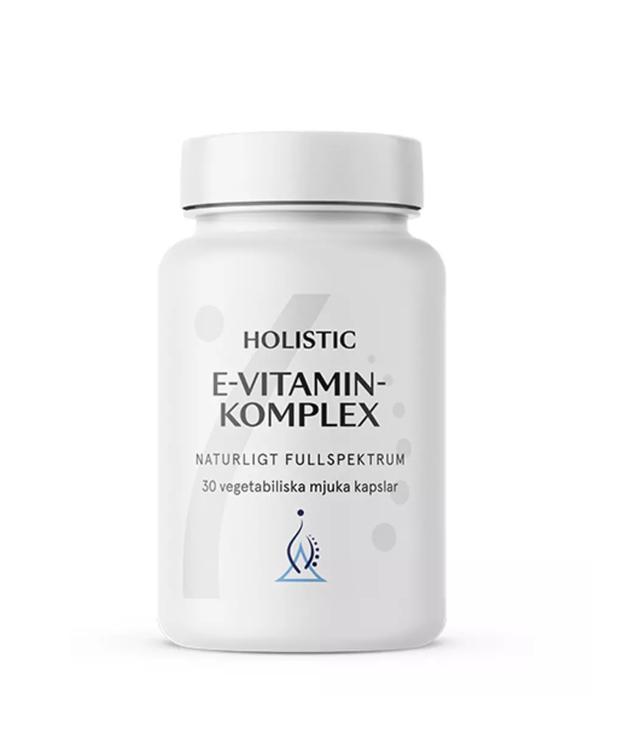 E-vitaminkomplex 30 kapslar Holistic (Vitamin E)